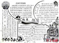 建党节红色之旅手抄报内容资料