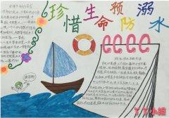 珍惜生命预防溺水手抄报的画法二年级