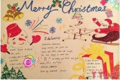 英语圣诞节手抄报怎么画简单又漂亮