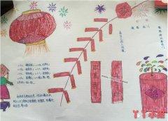 小学生欢度春节手抄报怎么画简单又漂亮