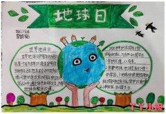 地球日保护地球手抄报简单又漂亮四年级