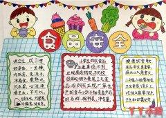 小学生食品安全手抄报怎么画简单漂亮