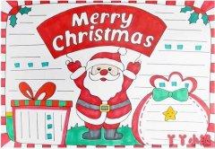 圣诞节英语手抄报怎么画简单又漂亮