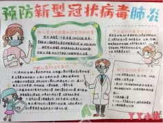 六年级预防新冠病毒手抄报简单又漂亮