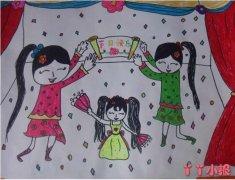儿童节文艺演出水彩画怎么画简单漂亮