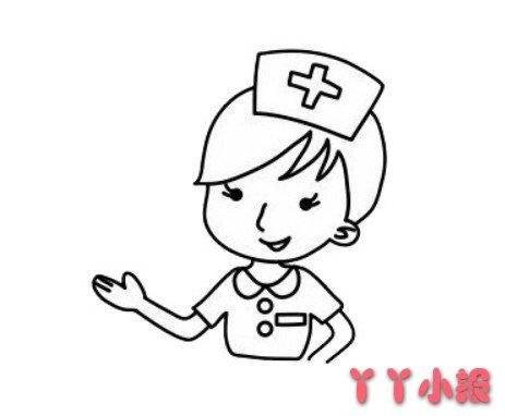 护士的画法步骤简单漂亮 护士简笔画图片