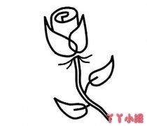 玫瑰花怎么画简单又漂亮 玫瑰简笔画图片