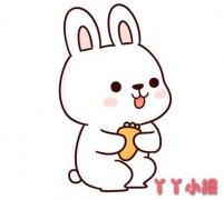 卡通小白兔的画法步骤涂颜色 兔子简笔画