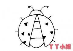七星瓢虫怎么画简单又漂亮 瓢虫简笔画