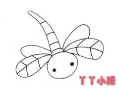 蜻蜓的画法步骤图 蜻蜓简笔画图片