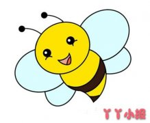 卡通小蜜蜂怎么画简单又漂亮涂色带步骤