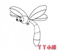 卡通蜻蜓怎么画简单又好看 蜻蜓简笔画