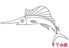 秋刀剑鱼怎么画简笔画图片简单好看