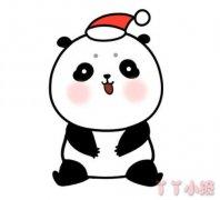 可爱小熊猫怎么画涂色 熊猫简笔画图片