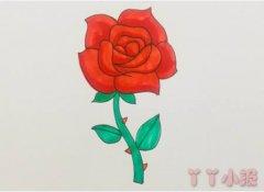 玫瑰花怎么画简单又漂亮带步骤图