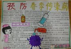 预防春季传染病手抄报怎么画简单漂亮