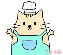 卡通小猫的画法涂颜色简单又可爱