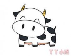 奶牛的画法步骤涂颜色 奶牛简笔画图片