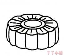中秋月饼的画法简单 月饼简笔画图片