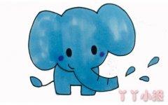 卡通大象怎么画涂色 大象简笔画图片