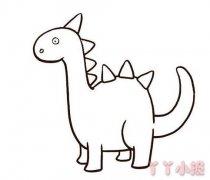 卡通恐龙的画法简单 恐龙简笔画图片