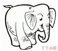 长鼻子大象的画法素描 大象简笔画图片