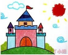 城堡的画法涂颜色 城堡简笔画图片