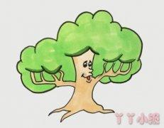 大树的画法涂颜色 大树简笔画图片