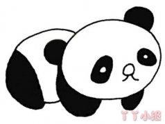 大熊猫怎么画简单 熊猫简笔画图片