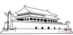 北京天安门的画法图解,北京天安门简笔画