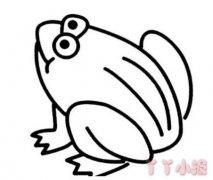 青蛙的画法步骤教程 青蛙简笔画图片