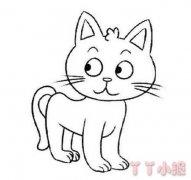 小猫咪的画法简单可爱 小猫简笔画图片