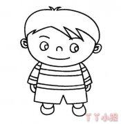 小男孩怎么画简单又可爱 小男孩简笔画图片