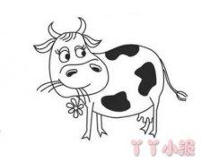 奶牛怎么画简单又好看 奶牛简笔画图片