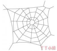 儿童简笔画蜘蛛网怎么画简单好看