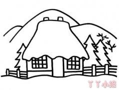 儿童简笔画雪屋怎么画简单漂亮