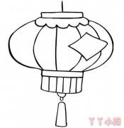 灯笼怎么画简单又漂亮 灯笼简笔画图片