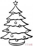 圣诞树怎么画带步骤教程 圣诞树简笔画