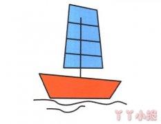 帆船怎么画涂颜色 帆船简笔画图片