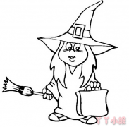 万圣节女巫怎么画 女巫简笔画图片