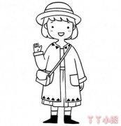 可爱小女孩怎么画简单又漂亮 小女孩简笔画