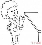 妈妈的画法简单好看 母亲节妈妈简笔画图片
