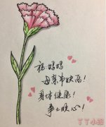 康乃馨怎么画涂颜色简单又漂亮 康乃馨简笔画