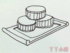 中秋月饼的画法简单又好看 月饼简笔画图片