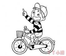 骑单车的小男孩简笔画怎么画简单好看