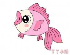 小鲤鱼怎么画涂颜色 小鱼简笔画图片