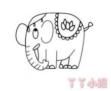 卡通大象怎么画简单好看 大象简笔画图片
