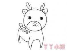 可爱梅花鹿怎么画带步骤 梅花鹿的画法教程