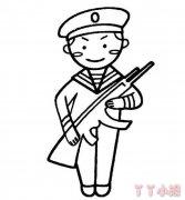 军人怎么画 军人简笔画的画法教程