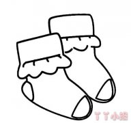 儿童袜子简笔画怎么画 袜子的画法教程